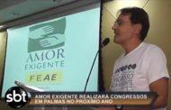 Reportagem no SBT Redação - Congresso de Amor-Exigente